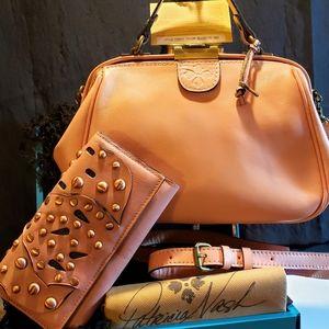 Patricia Nash Satchel & Wallet set in Blush, NWT